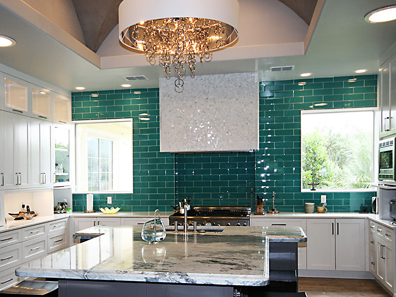 Emerald Kitchen Roxton Custom Home Remodeling