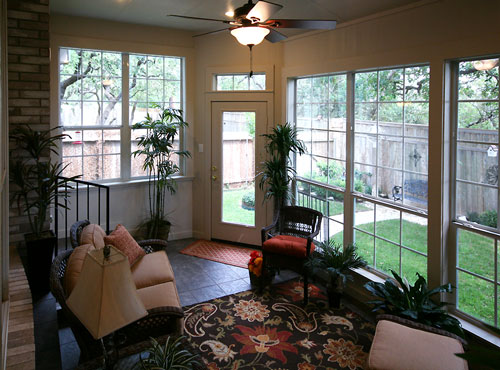 Enclosed Porch And Sitting Room Roxton Custom Home