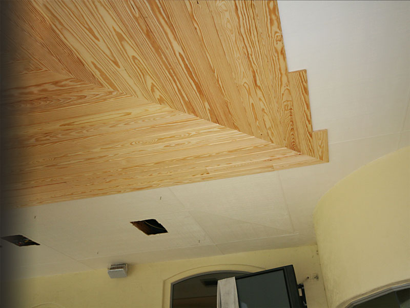 New Tongue and Groove Patio Ceiling