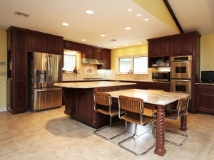 Kitchen After Cabinets and Island Remodeling