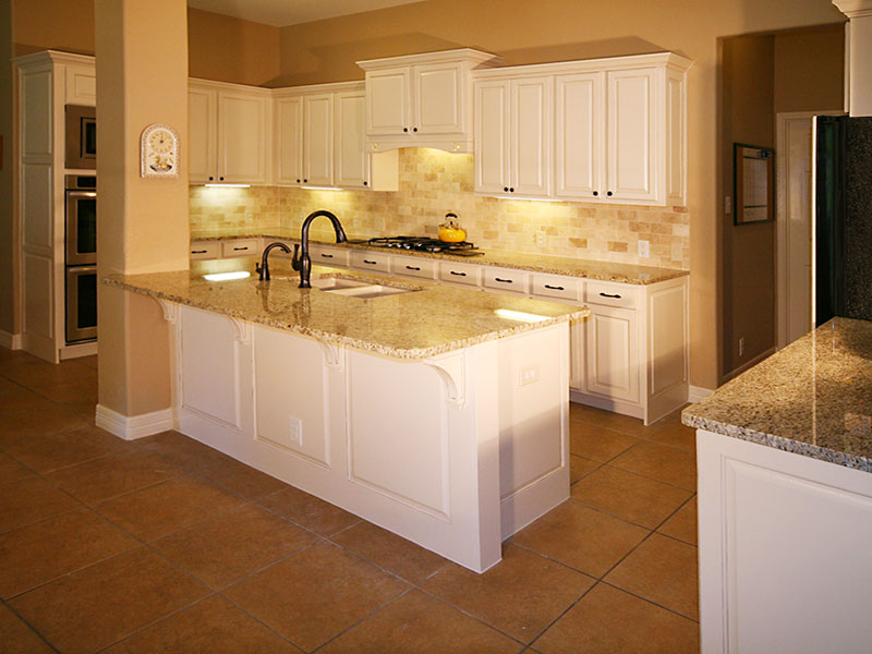 Specialty Glazed and Painted Kitchen Cabinets