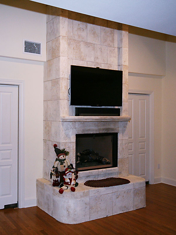 Remodled Fireplace fo Modern Look