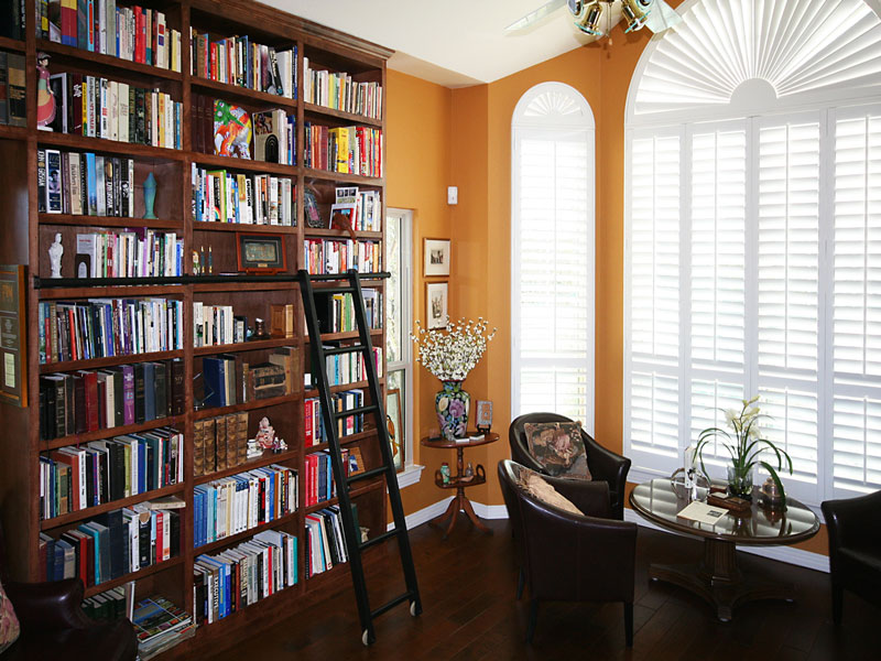 Custom Bookcase in Sun Room