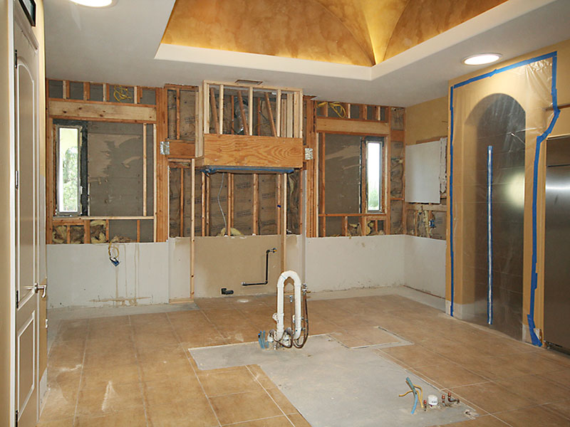 Emerald Kitchen During Remodeling