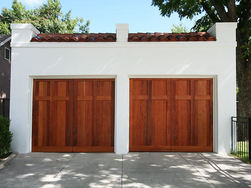 Garage Redesign Mahogany Doors