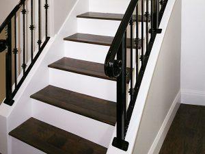 New Stairs and Iron Railing