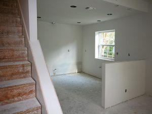 Stairwell and Kitchen Gutted for Remodeling