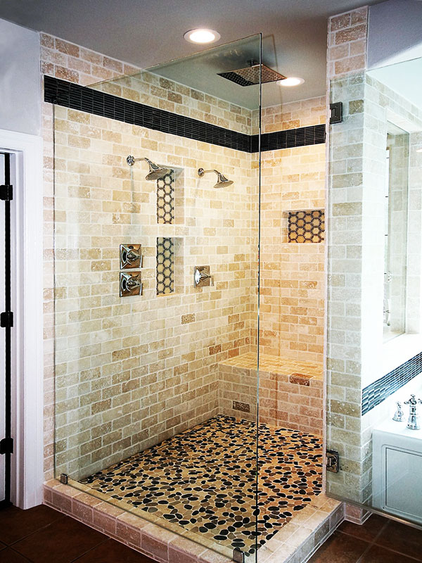Walk In Shower For Master Bath Roxton Custom Home Remodeling