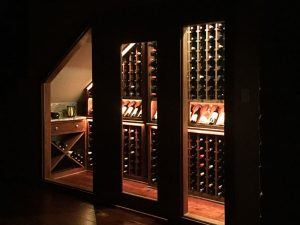 Wine Room Addition Under Staircase