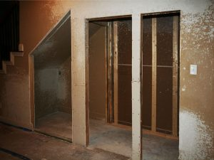 Wine Room Framing Under Staircase