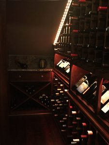 Wine Room Under Staircase Finished